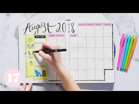 August 2018 Bullet Journal Setup   Plan With Me