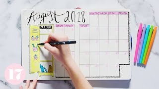 August 2018 Bullet Journal Setup | Plan With Me