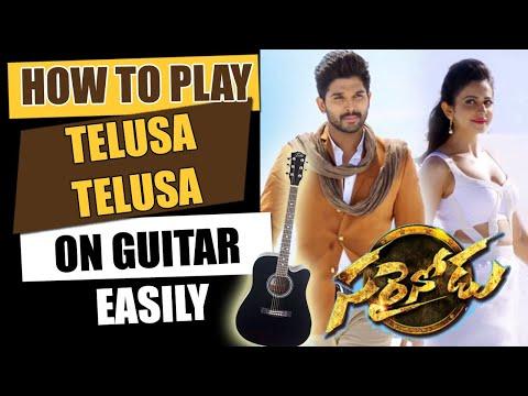 Telusa Telusa - Guitar Tutorial - Telugu Guitar Songs
