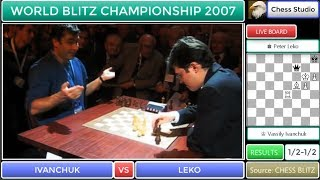 WHAT A GAME!!! ROOK AND BISHOP Vs QUEEN! IVANCHUK VS LEKO | WORLD BLITZ CHAMPIONSHIP 2007