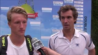 Jan Hernych a Zdeněk Kolář po semifinále deblu na turnaji Futures v Pardubicích