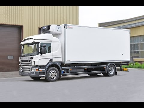 видео: scania p 250 фургон- рефрижератор с холодильником carrier