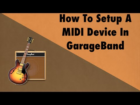 How To Setup A MIDI Device In GarageBand - YouTube