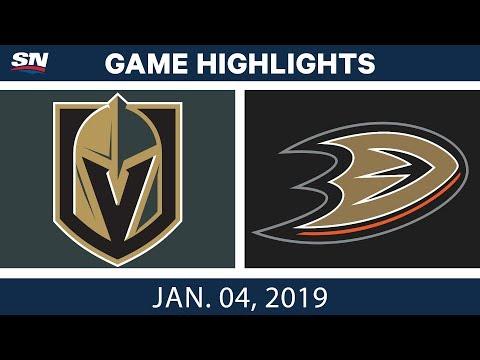 NHL Highlights | Golden Knights vs. Ducks - Jan. 4, 2019