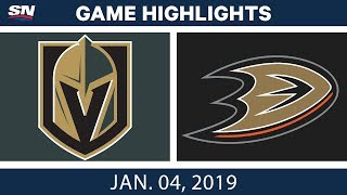 NHL Highlights | Golden Knights vs. Ducks - Jan. 4, 2019