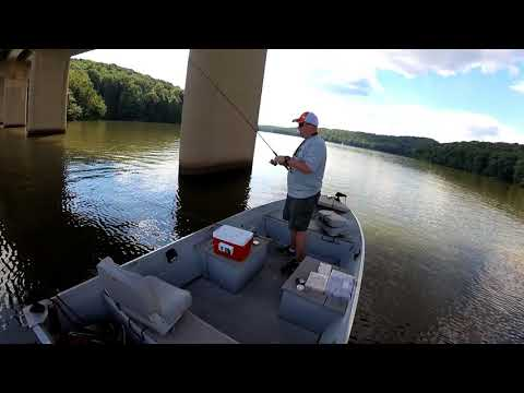 Summer Bridge Pylon Crappie Lake Arthur 7 18 18