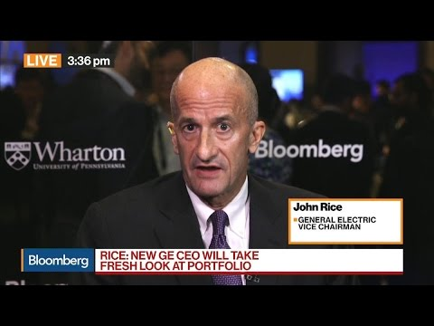 GE's Rice on Global Economy, New CEO, Pension