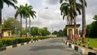 Driving in Unilag (University of Lagos) Jaja Hall to Main Gate 720p