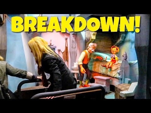 Disney Ride Breakdown & Evacuation - Pinocchio Ride at Disne