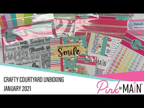 Unboxing the January 2021 Crafty Courtyard Card Kit