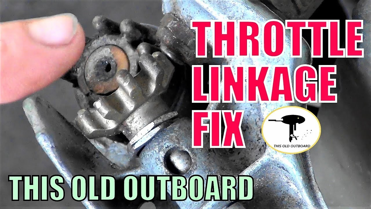 OLD JOHNSON EVINRUDE THROTTLE LINKAGE GEAR FIX