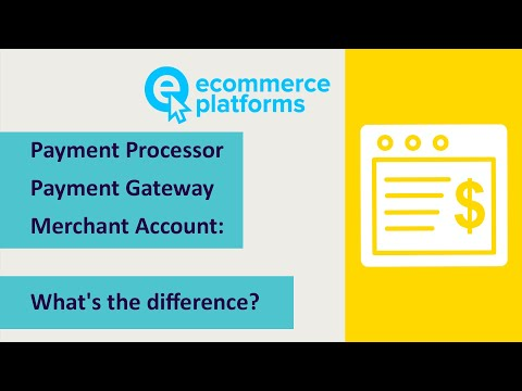 What's the Difference Between a Payment Processor, Payment Gateway & Merchant Account?