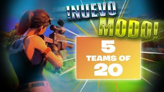 *NUEVO* MODO 5 TEAMS DE 20 JUGADORES! FORTNITE: BATTLE Royale *Mr. Glitches ICJ*