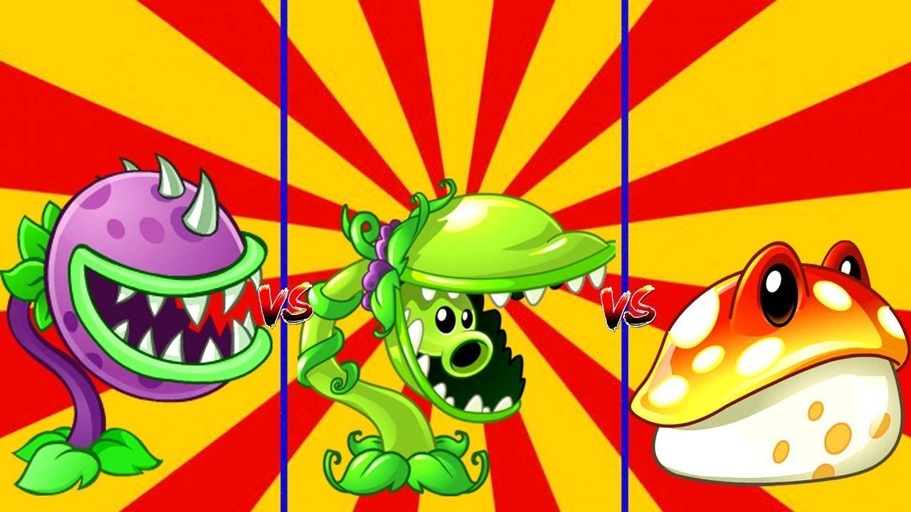 Plants Vs Zombies 2 Chomper Vs Snap Pea Vs Toadstool in PVZ 2