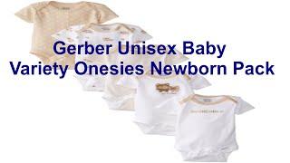 Gerber Unisex Baby Variety Onesies Newborn Pack of 5