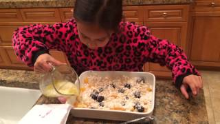 Ella's Easy Cooking For Kids, Episode 3, Peach Berry Cobbler