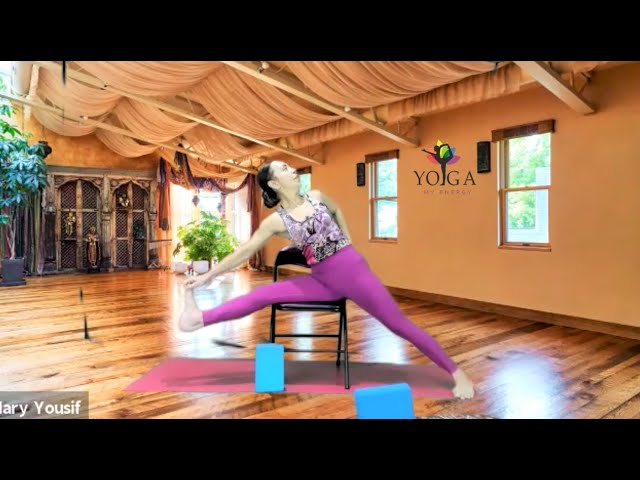 Exploring Hips using Chair for Yoga