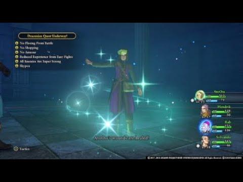 Dragon Quest 11 Boss - Restless Knight [Hard, No armor, shopping, fleeing, reduced exp, shypox]