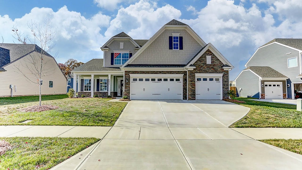 The Raleigh New Homes In Charlotte Nc Eastwood Homes At Glendalough Youtube