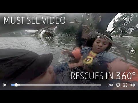 Hurricane Harvey Rescues in 360° VR