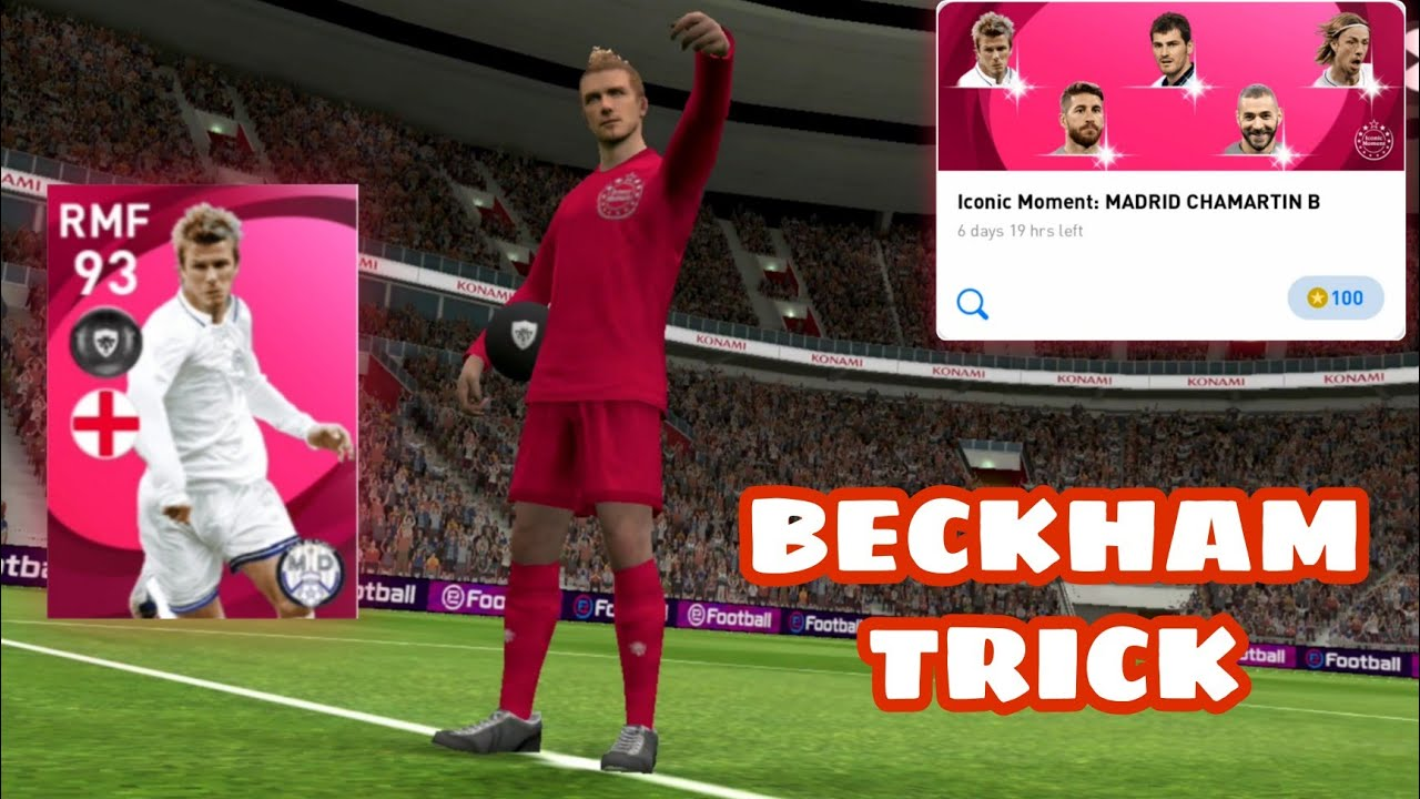 HOW TO GET BECKHAM AND OTHER LEGEND IN ICONIC MOMENT REAL MADRID(MADRID CHAMARTIN B) PES 2021 MOBILE