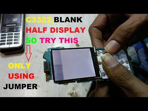 samsung C3322 display problem | samsung c3322 white display,blank display problem 100% tested