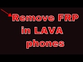 How to bypass frp in lava phones [a89]