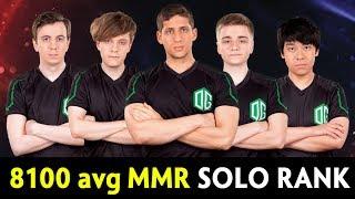 8100 avg MMR — full OG met in Solo Ranked