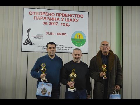 Otvoreno prvenstvo Paraćina u šahu 2017 - svečano zatvaranje