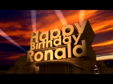 Birthday Cake For Ronald : Happy Birthday Ronald - YouTube