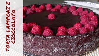 TORTA LAMPONI E CIOCCOLATO vegana - Ispirata a Bake Off -