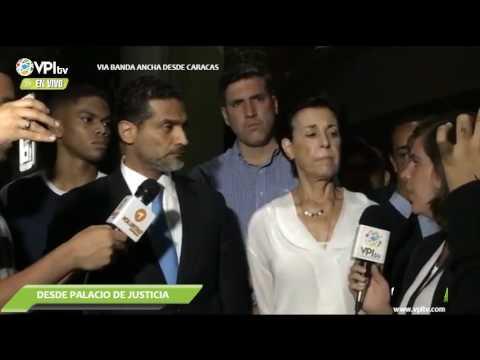 Hablan Abogado y Familiares de Leopoldo López a la Salida de la Maratonica Audiencia