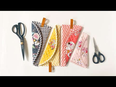 Crepe Case for Scissors / Scissor Case / Notions Pouch / How to attach Snap Fasteners