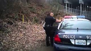 Bellingham Washington Police body camera: foot chase