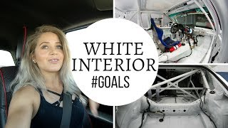 So... i want a white interior. Now the hard work starts at Garage L...