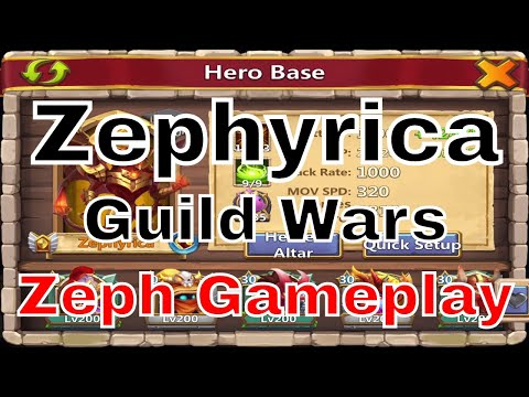 Castle Clash Guild Wars Zephyrica In Action (14,699 Points)