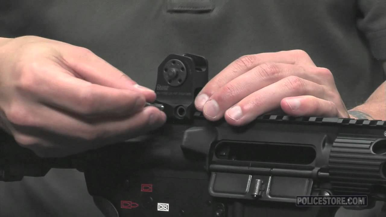 Policestore Daniel Defense Ar 15 M16 Fixed Backup Front