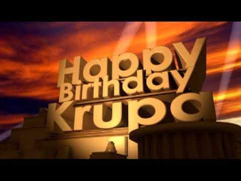 Happy Birthday Krupa