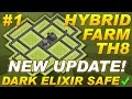 NEW UPDATE Town Hall 8 (TH8) Hybrid Farming Base TH11 UPDATE Dark Elixir Clash of Clans COC Setup #1