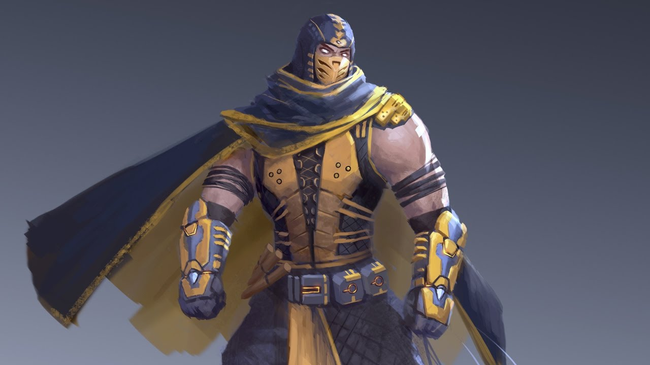 Character Design Mortal Kombat : Scorpion mortal kombat character design time lapse youtube