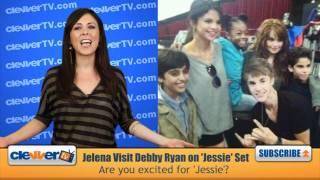 Selena & justin on 'jessie' set: http://bit.ly/nxqqje http://facebook.com/clevvertv - become a fan! http://twitter.com/clevvertv follow us! i'm joslyn davi...