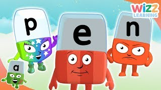 Phonics - First Letters & Sounds | Alphablocks | Learn to Read | Wizz Learning