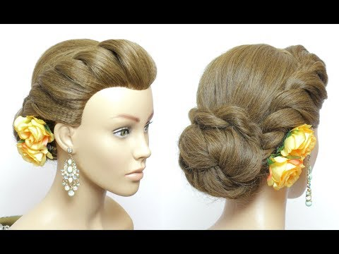 Easy Twist Low Bun Updo Prom Hairstyles