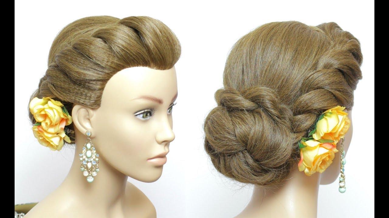 Hairstyles Juda: Simple Juda Hairstyle. Easy Twist Low Bun For Long Hair