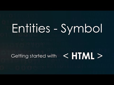 Entities And Symbols In HTML (Part-8)