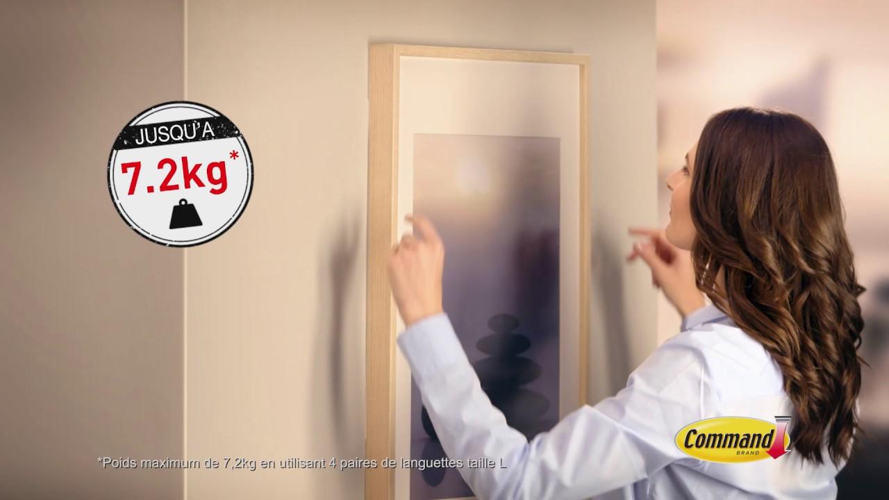 Attache Tableau Sans Percer facile à accrocher avec les languettes 3m™ command™ languettes accroches  tableaux