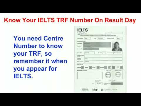 Know/Decode your IELTS TRF number on result day  - YouTube