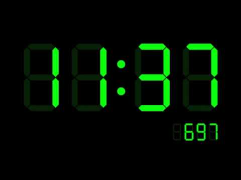 Ticking Digital Clock Youtube