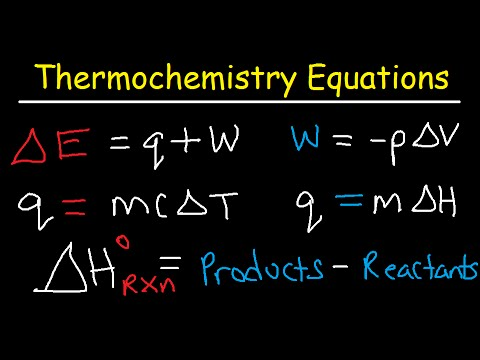 Thermochemistry Equations & Formulas - Lecture Review & Practice Problems