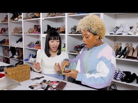 Marie Kondo Cleans Out Beauty Editors' Makeup Bags! | Cosmopolitan